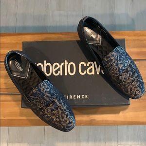 Men's Roberto Cavalli Jacquard Serpente loafer